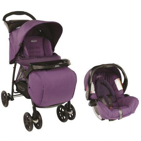 Коляска GRACO 2 в 1 Mirage Plus TS, цвет Blackberry